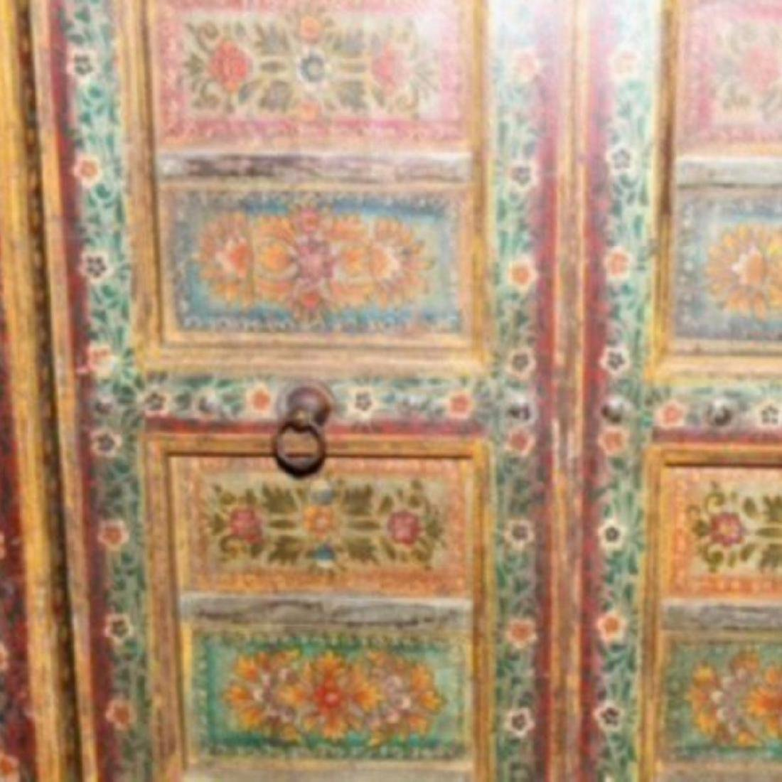 """HAVELI POLYCHROME WOOD DOORS WITH FRAME, 90.5""""H - 2"""