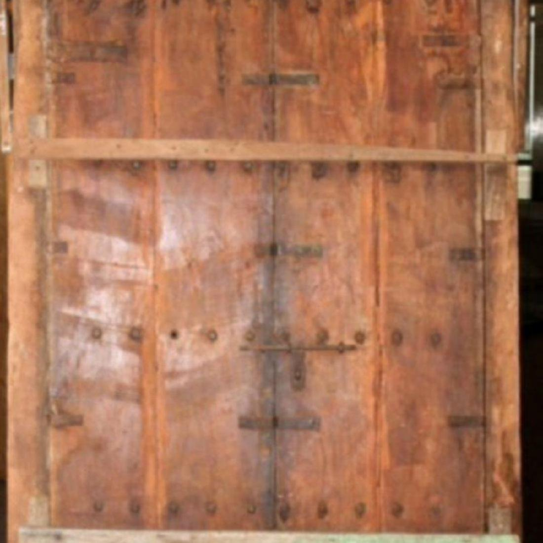 """HAVELI POLYCHROME WOOD DOORS WITH FRAME, 90.5""""H - 3"""
