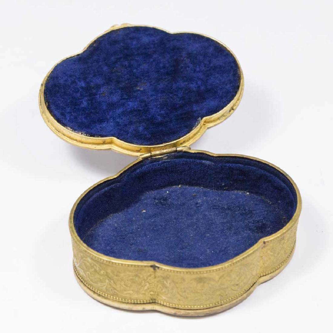 Brass & Enamel Portrait Box - 2