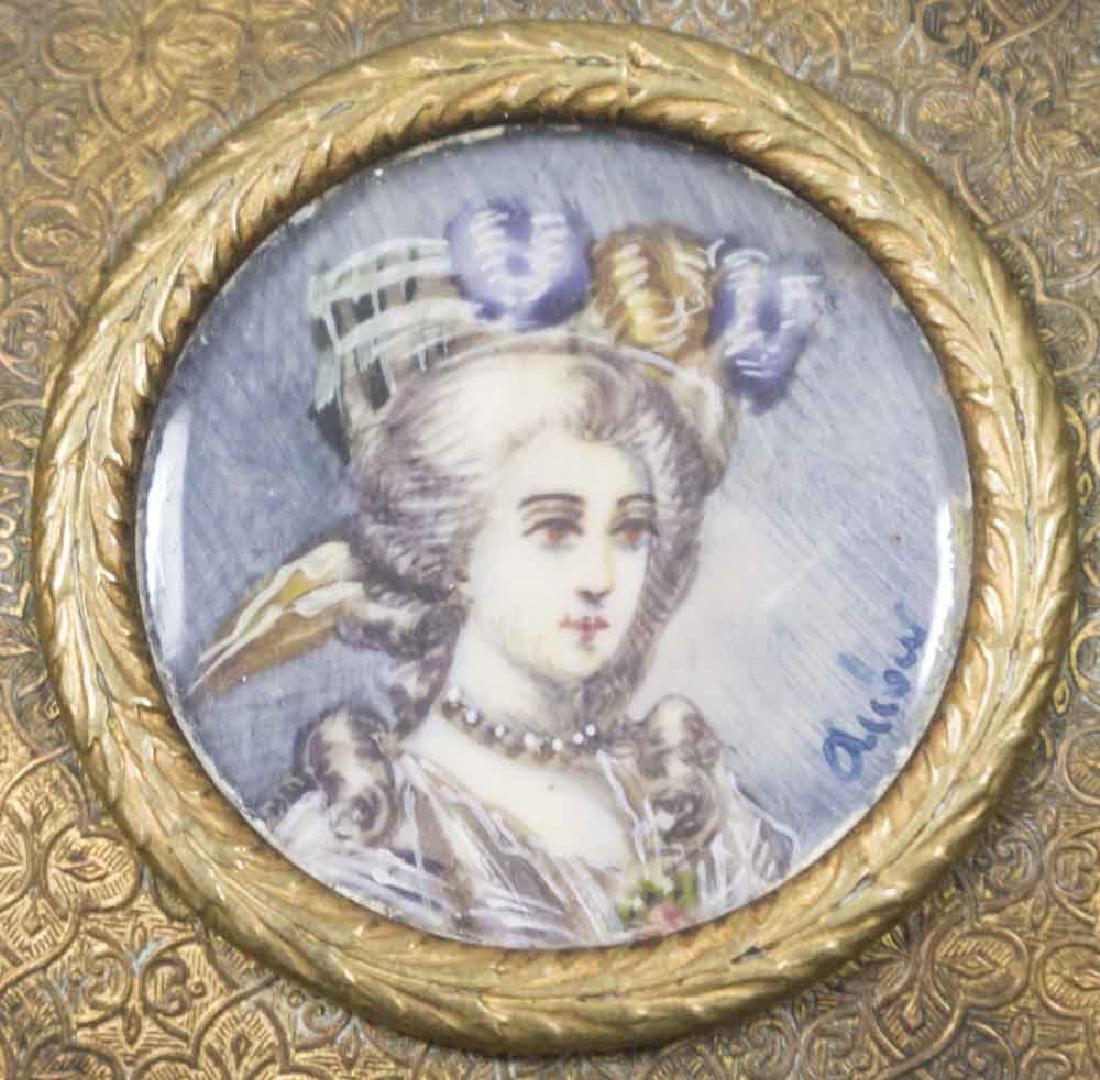 Brass & Enamel Portrait Box - 3
