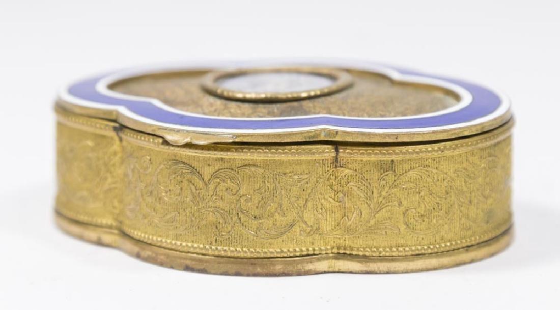 Brass & Enamel Portrait Box - 4