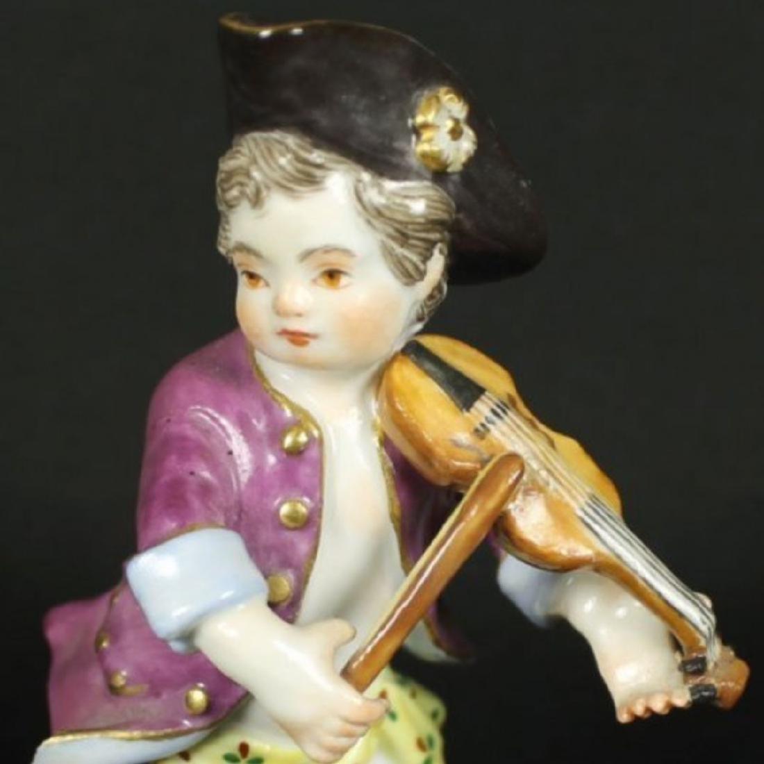 Meissen Figure of Violin Player - 5