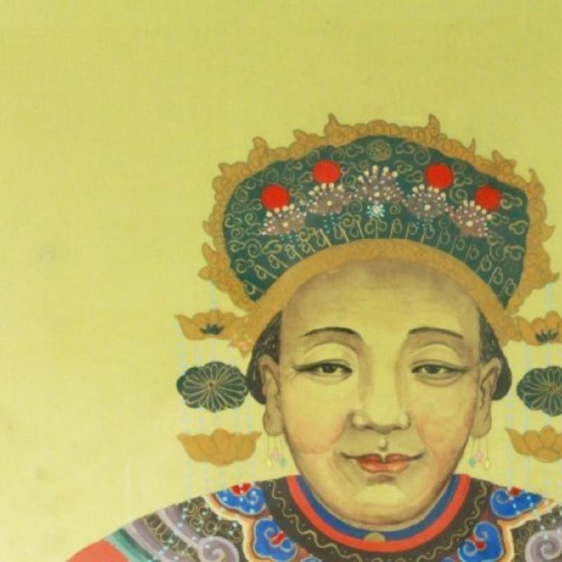 FRAMED CHINESE ANCESTOR PRINT - 2