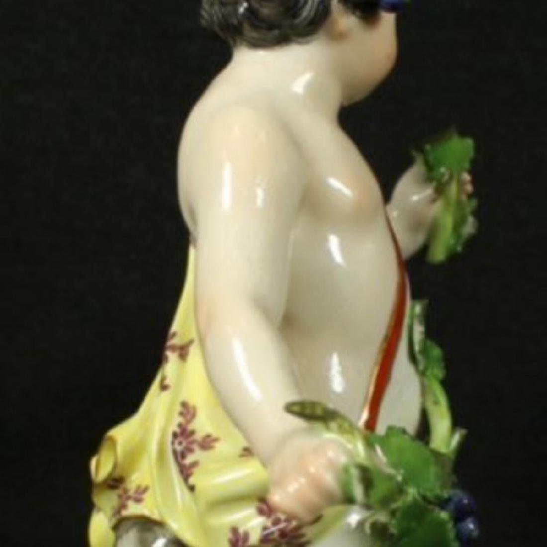 19th C. Meissen Figure of boy with Grapes - 2