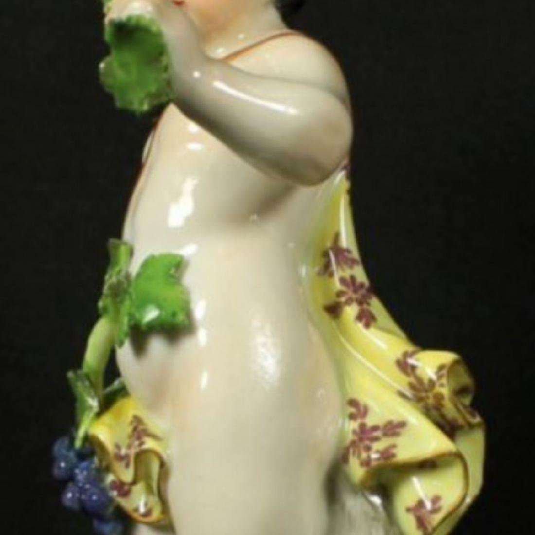19th C. Meissen Figure of boy with Grapes - 4