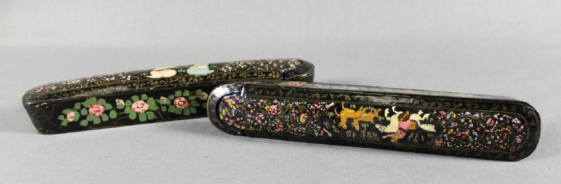 PAIR OF QAJAR PEN BOXES