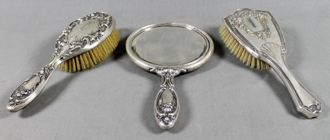 3 PC. STERLING SILVER DRESSER SET