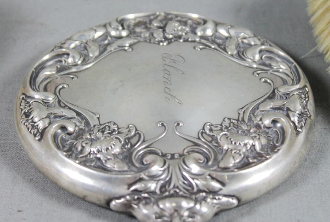 3 PC. STERLING SILVER DRESSER SET - 4