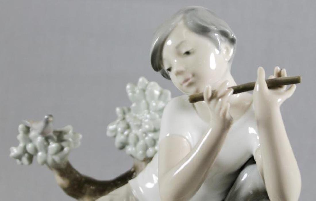 LLADRO FIGURE OF WOMAN WITH FLUTE - 2