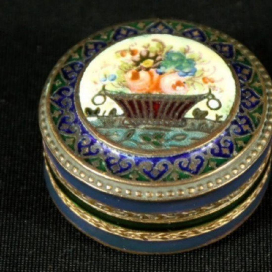 FRENCH ENAMEL ON COPPER BOX