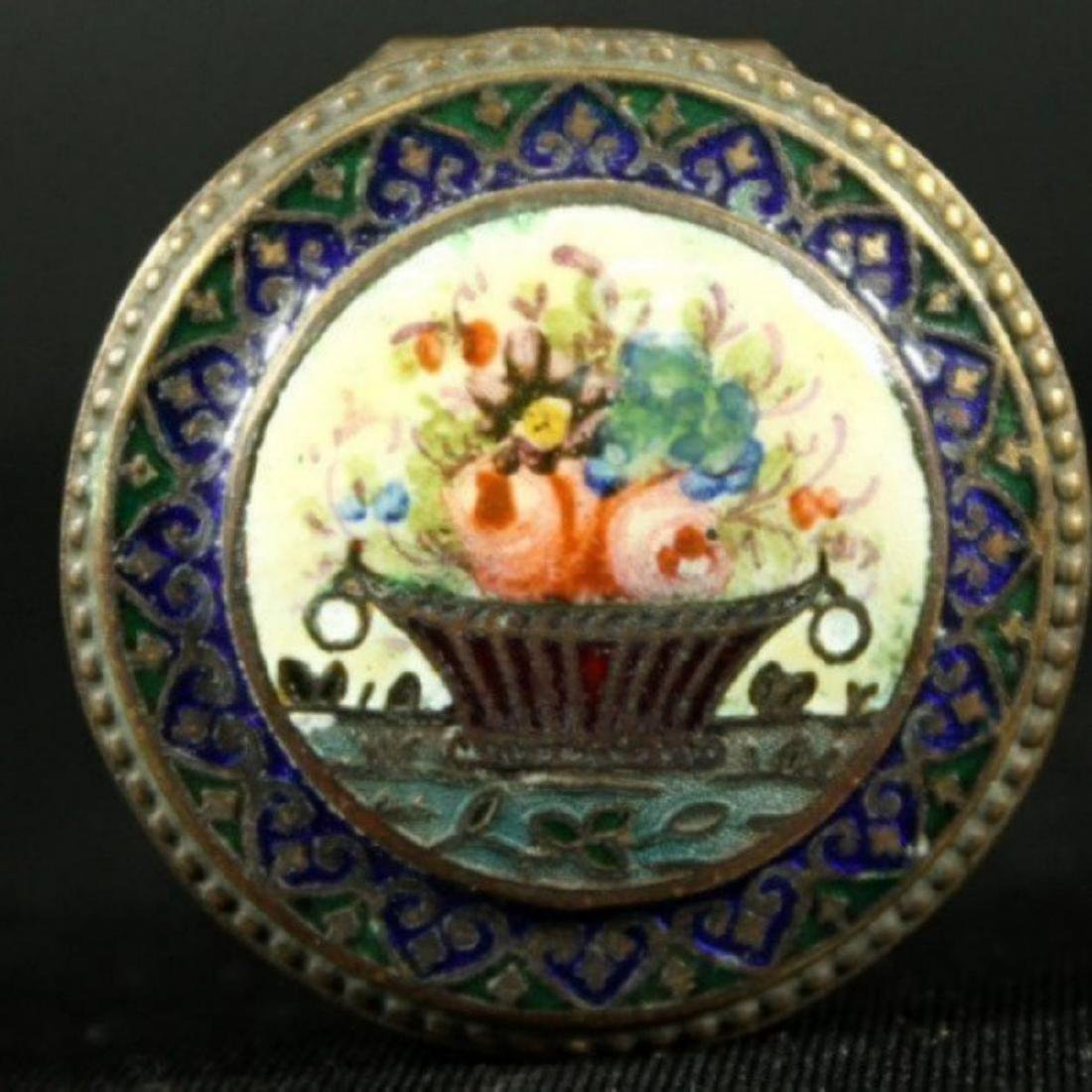 FRENCH ENAMEL ON COPPER BOX - 2
