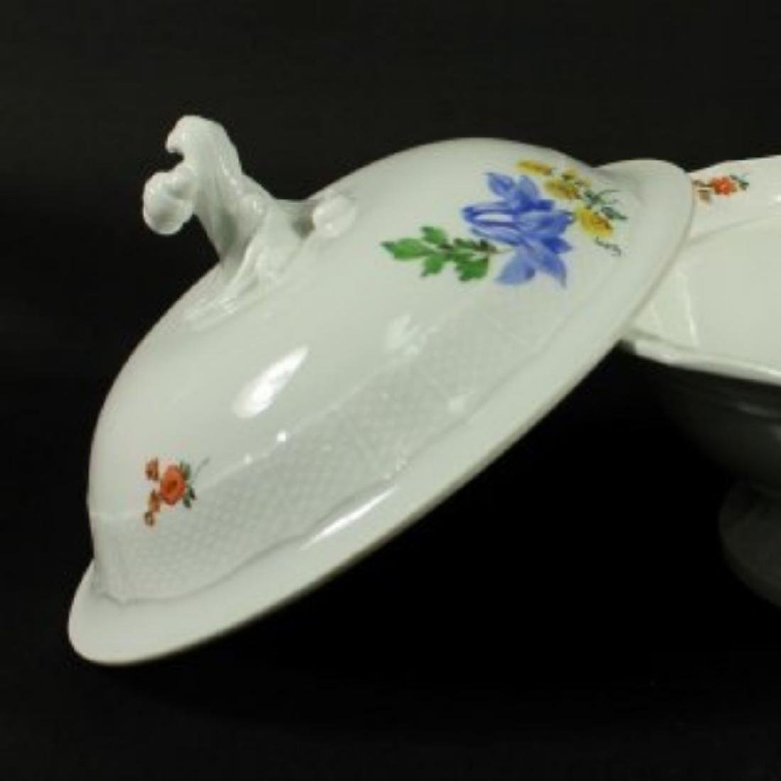 19TH C. MEISSEN BOWL W/ COVER - 2