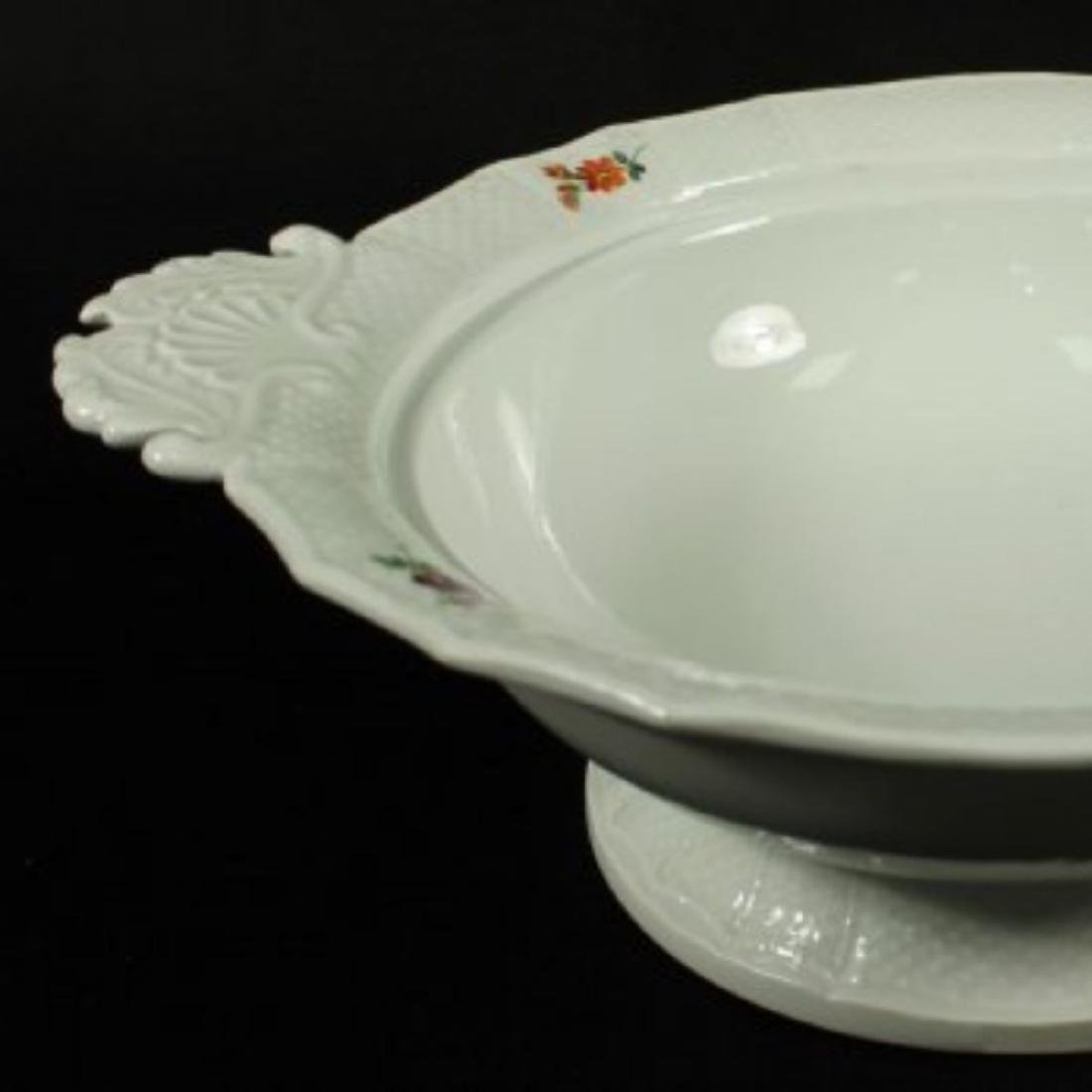 19TH C. MEISSEN BOWL W/ COVER - 4