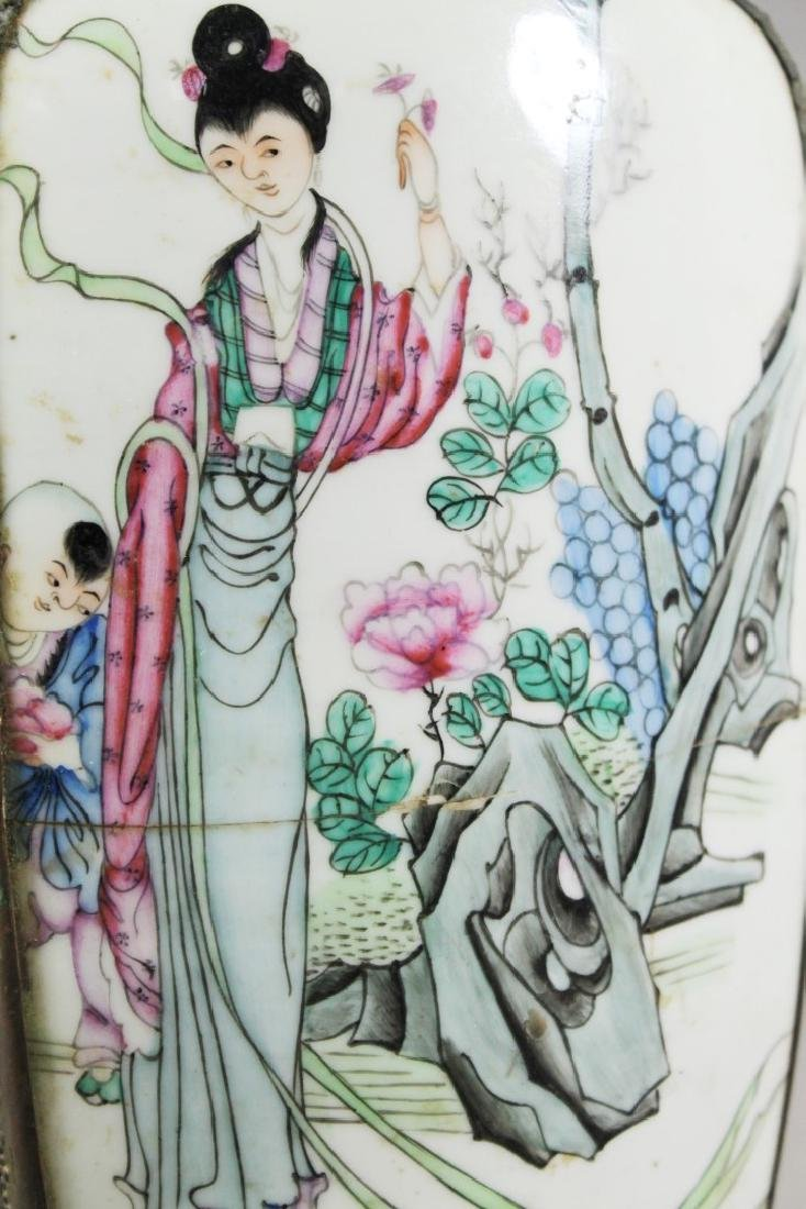 CHINESE PORCELAIN AND METAL BOX - 2