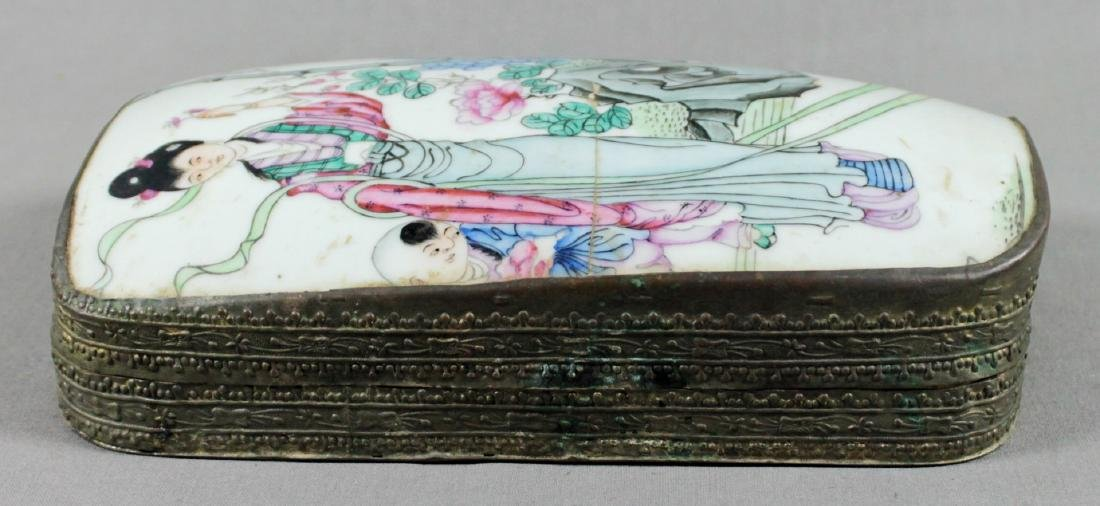 CHINESE PORCELAIN AND METAL BOX - 3