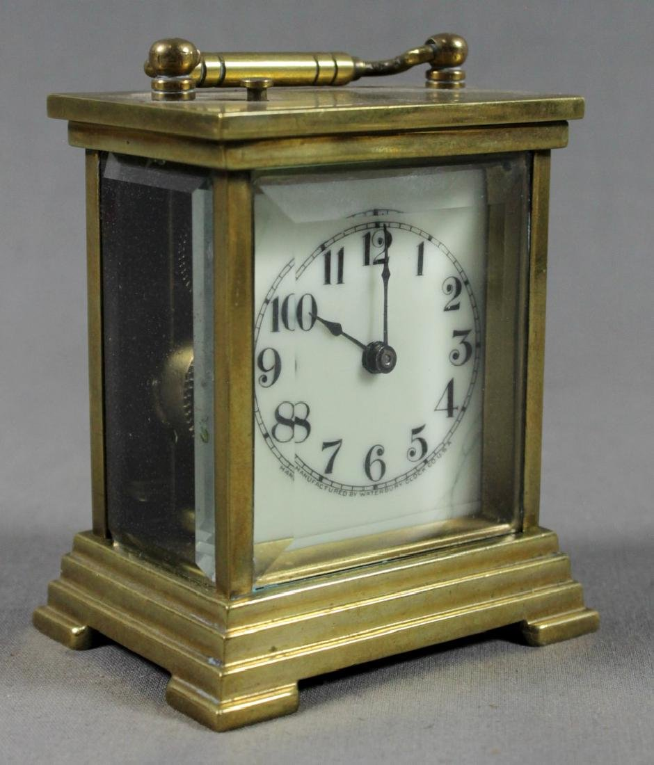 FRENCH BRASS CARRIAGE CLOCK - 4