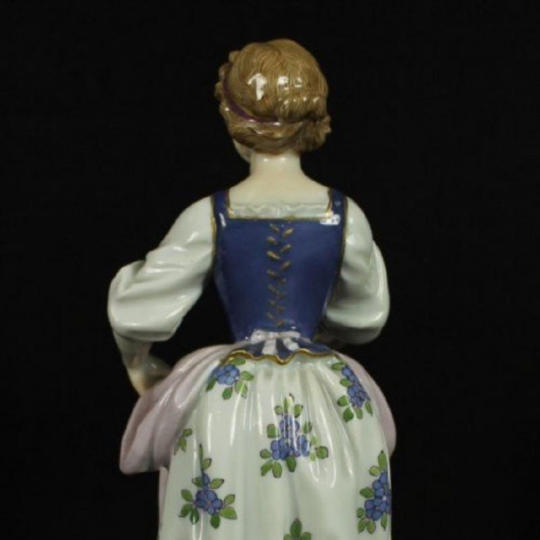 MEISSEN FIGURE OF WOMAN HOLDING DRESS - 4