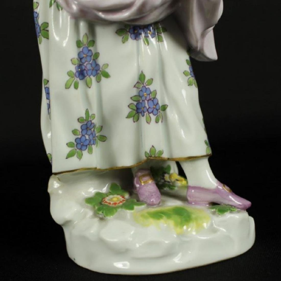MEISSEN FIGURE OF WOMAN HOLDING DRESS - 5