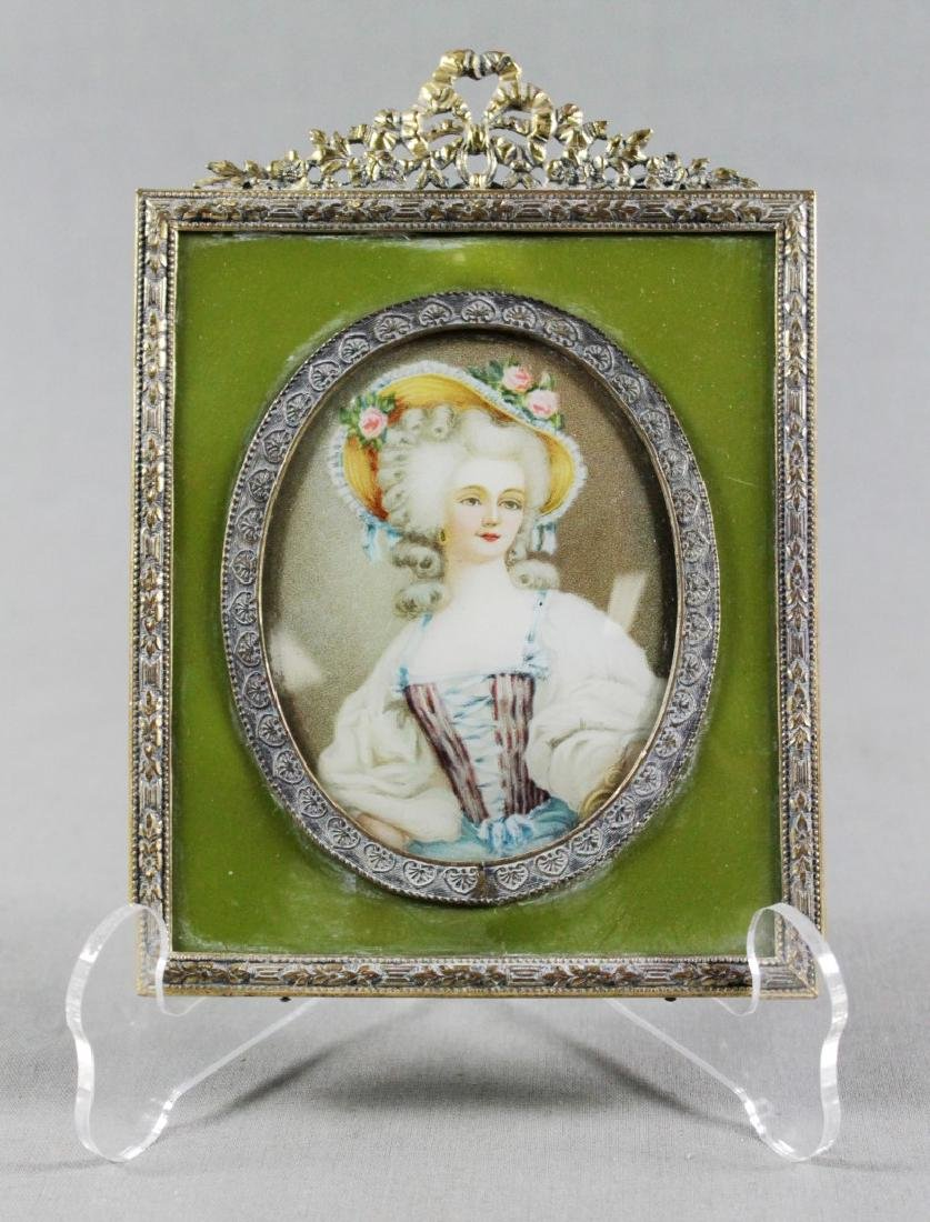 MINIATURE FRAMED ENAMEL PORTRAIT