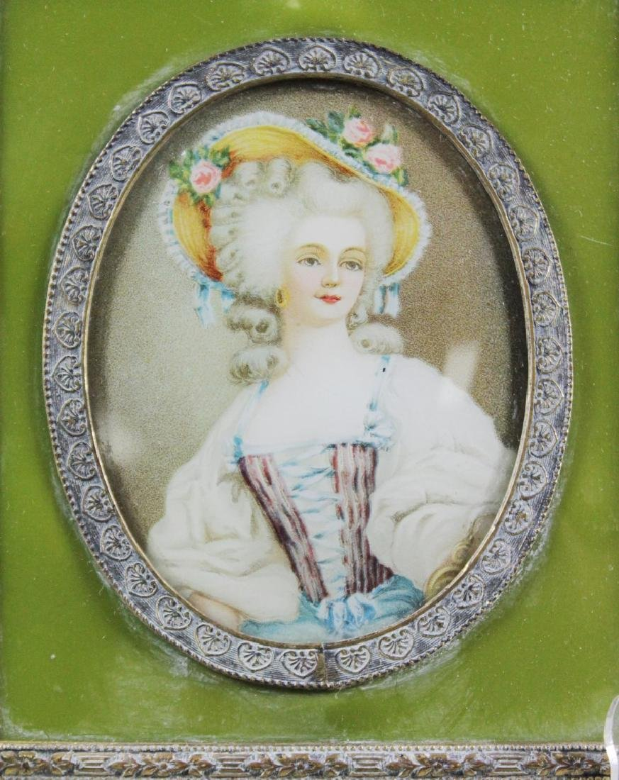 MINIATURE FRAMED ENAMEL PORTRAIT - 2