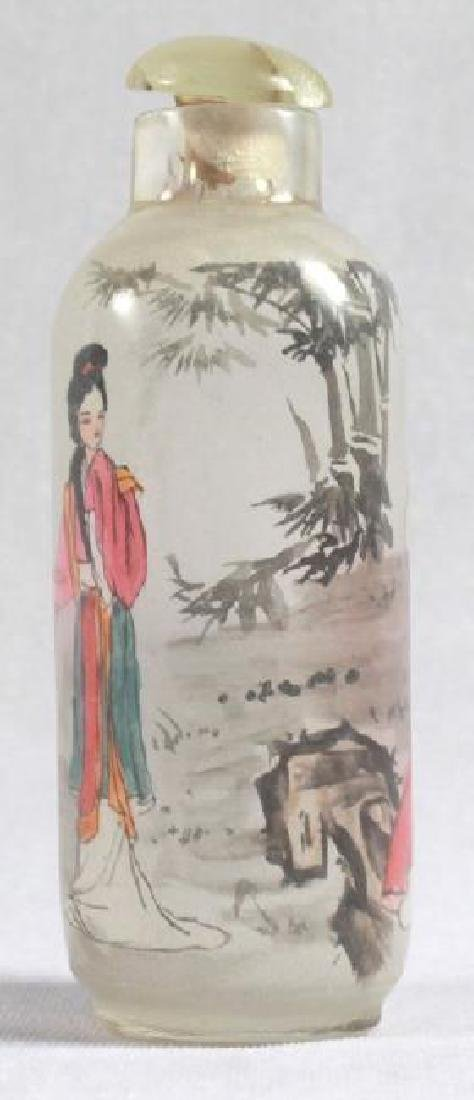 CHINESE REVERSE PAINT SNUFF BOTTLE - 2