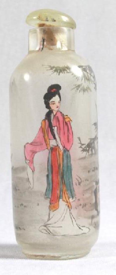 CHINESE REVERSE PAINT SNUFF BOTTLE - 3