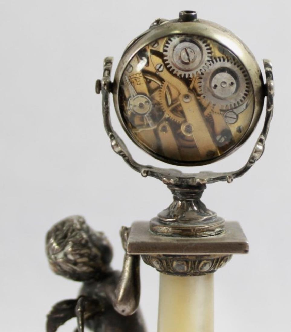 19TH C STERLING SILVER AND MOTHER OF PEARL FIGURAL - 3
