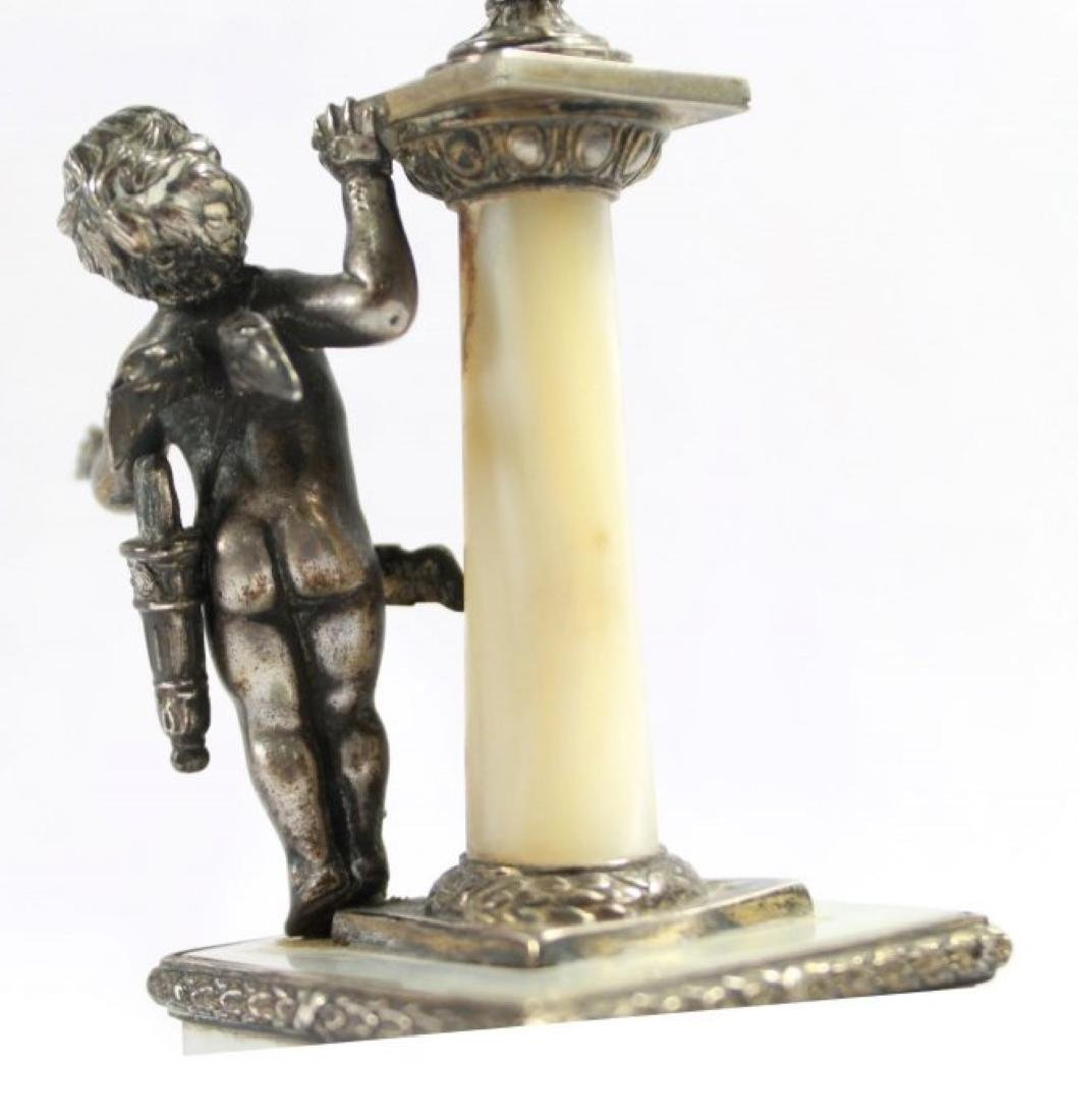 19TH C STERLING SILVER AND MOTHER OF PEARL FIGURAL - 4