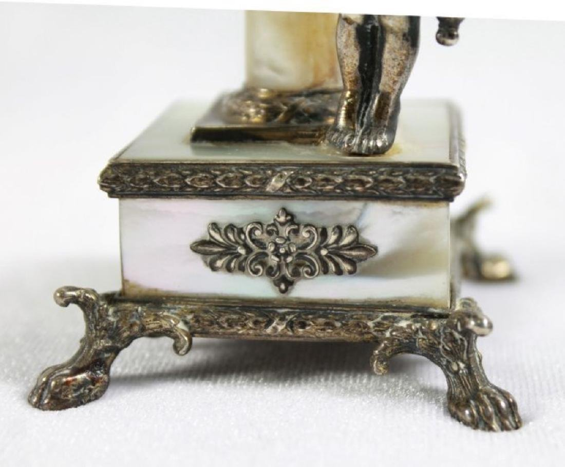 19TH C STERLING SILVER AND MOTHER OF PEARL FIGURAL - 5