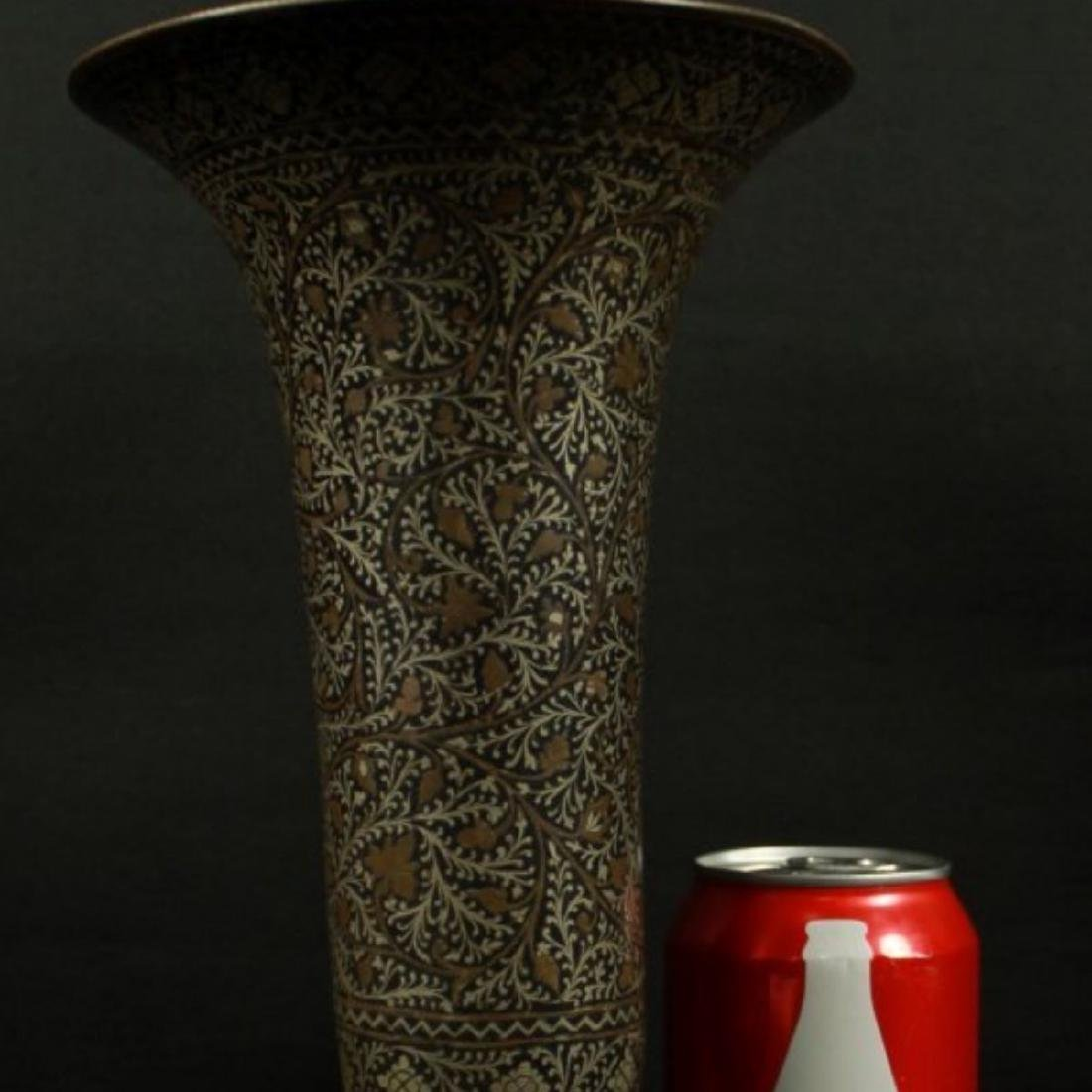 INLAID METAL VASE - 2
