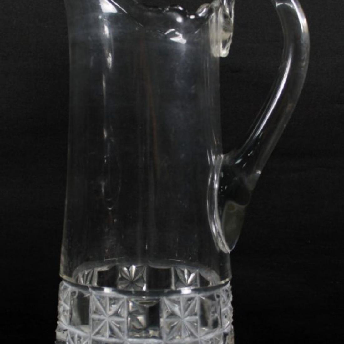 BACCARAT STYLE CUT GLASS PITCHER