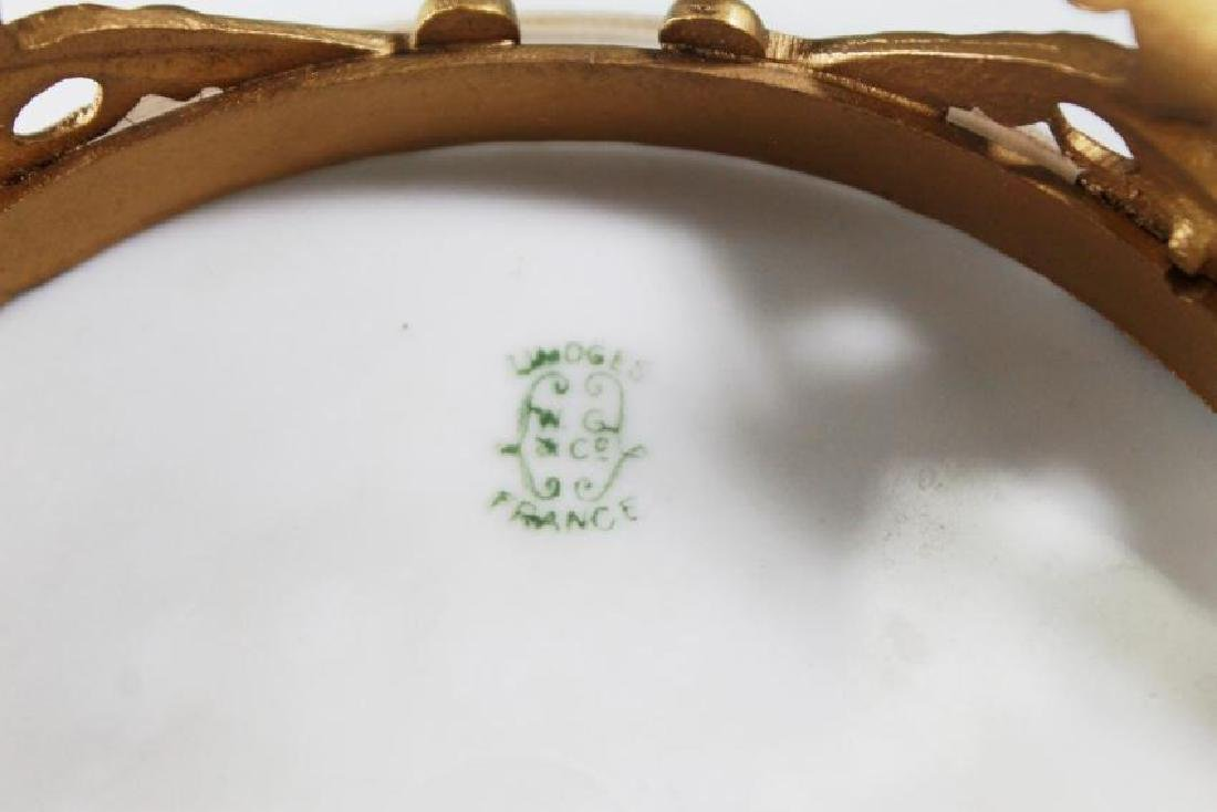 LIMOGES PORCELAIN AND BRONZE FOOTED TRAY - 5