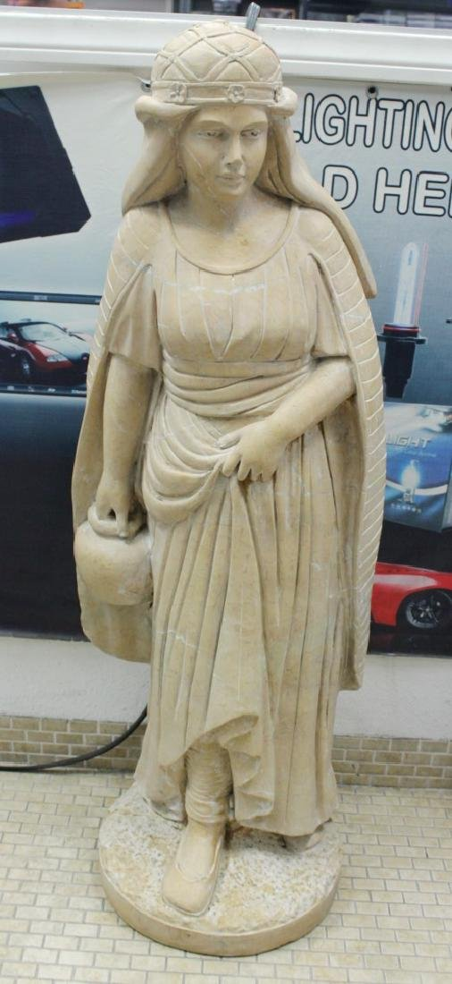 LARGE ITALIAN CARVED MARBLE FIGURE OF MAIDEN H: 47""