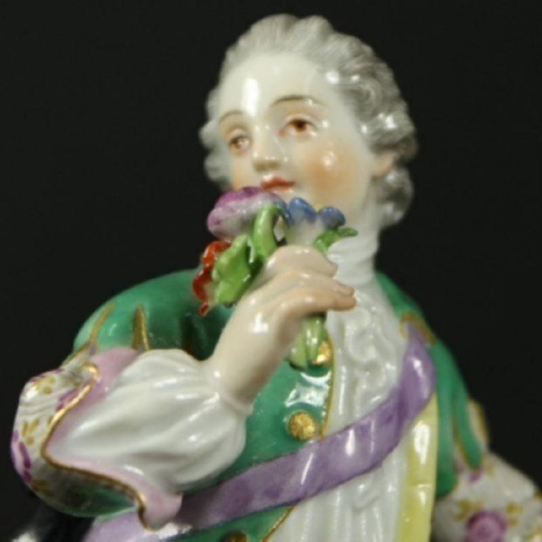 MEISSEN FIGURE OF BOY WITH FLOWERS - 3