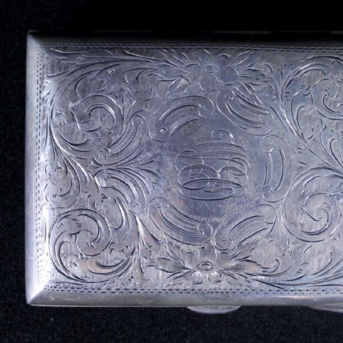 STERLING CIGARETTE BOX - 2