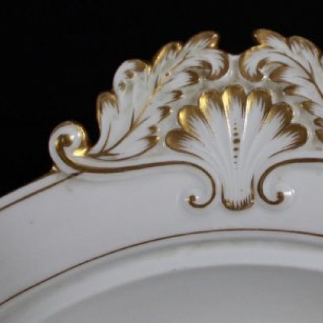 19TH C MEISSEN PART DINER SERVICE WITH THE UNDER GLAZED - 2