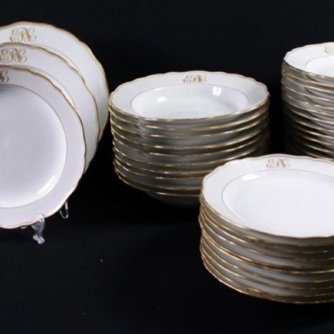 19TH C MEISSEN PART DINER SERVICE WITH THE UNDER GLAZED - 4