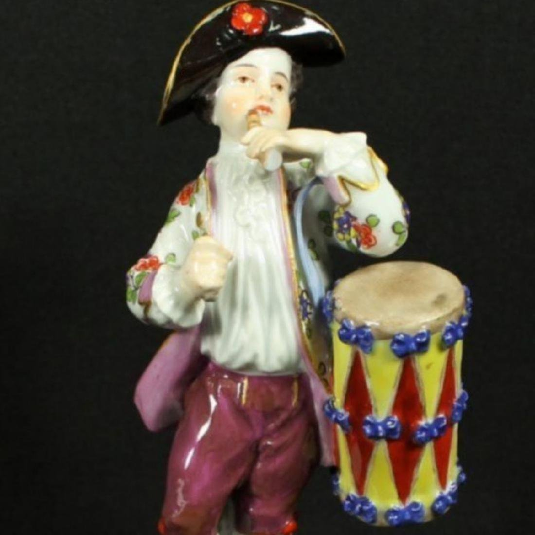 MEISSEN BOY WITH DRUM AND FLUTE