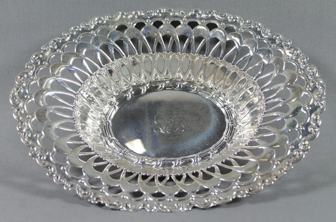 STERLING SILVER RETICULATED BREAD BASKET - 2