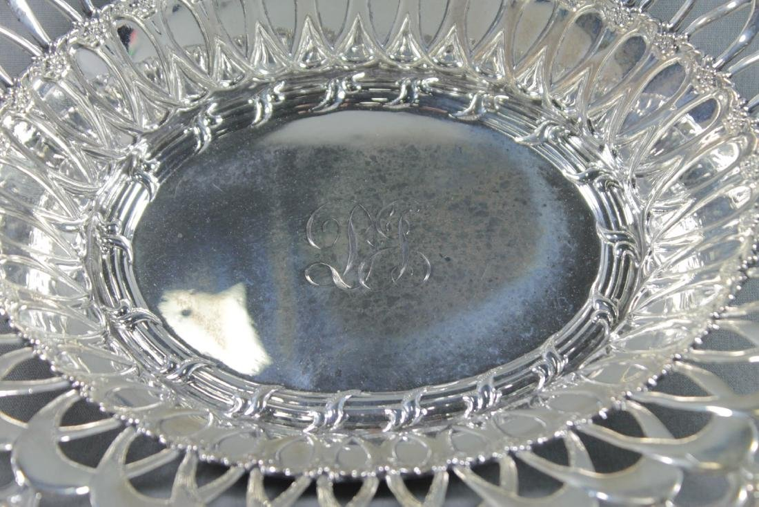 STERLING SILVER RETICULATED BREAD BASKET - 3