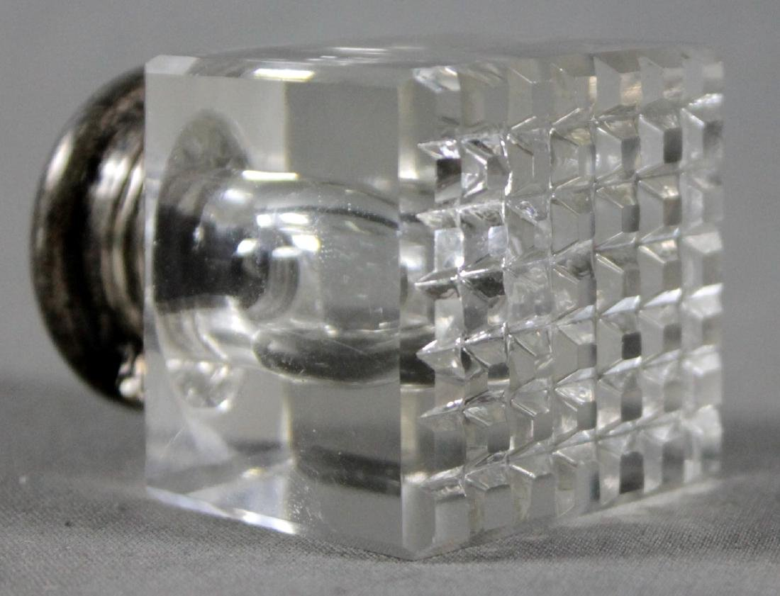 MINIATURE SILVER AND GLASS CONTAINER - 3