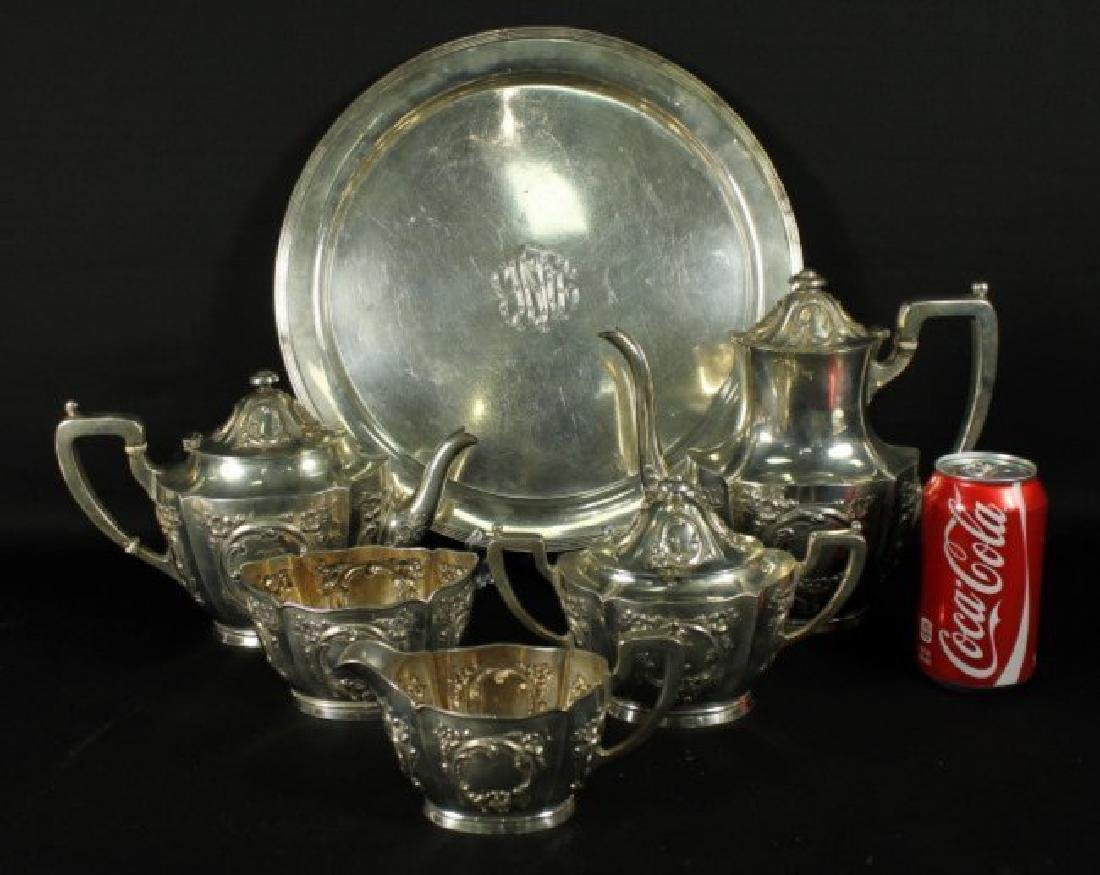 6 PC. STERLING SILVER TEASET - 2