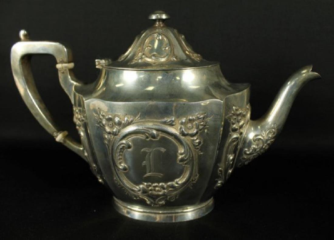 6 PC. STERLING SILVER TEASET - 7