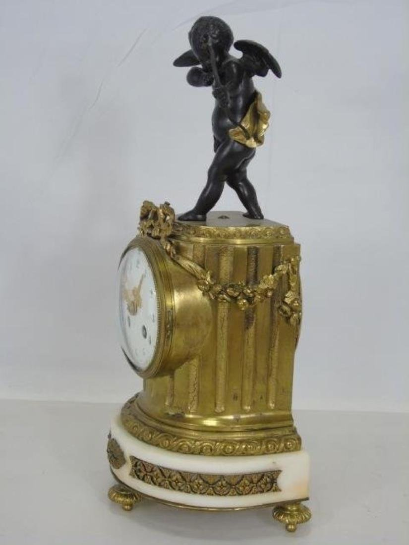 19th C. French Bronze & Marble Thieble Mantle Clock - 3