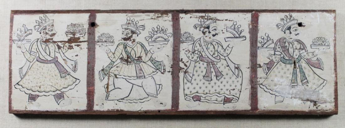 MULTIPANEL PERSIAN PAINTINGS ON WOOD - 2