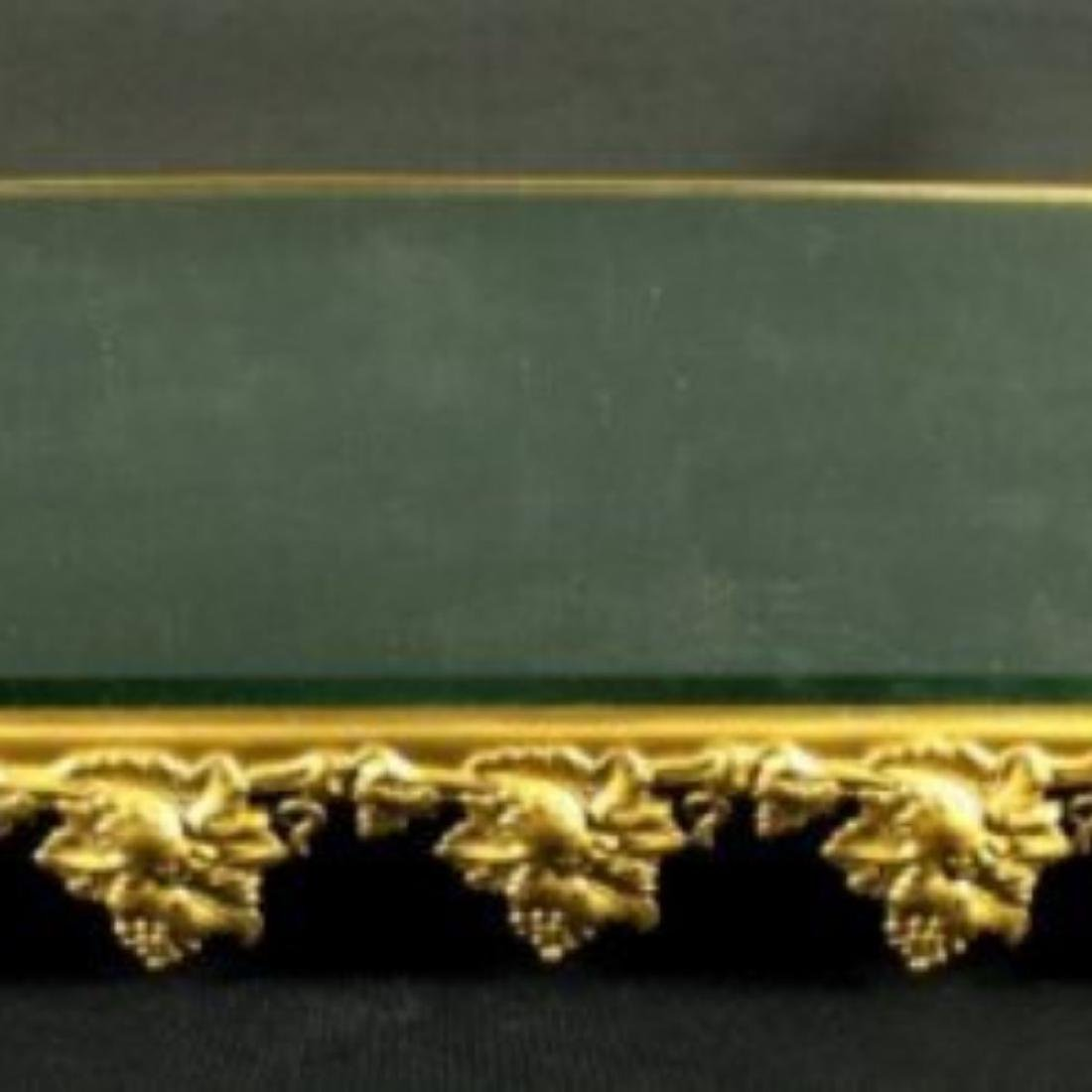 Gilt Bronze Frame Mirrored Vanity Tray