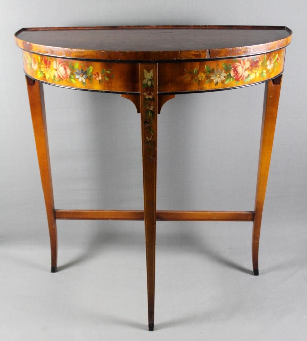GORGEOUS  FRENCH PAINTED CONSOLE
