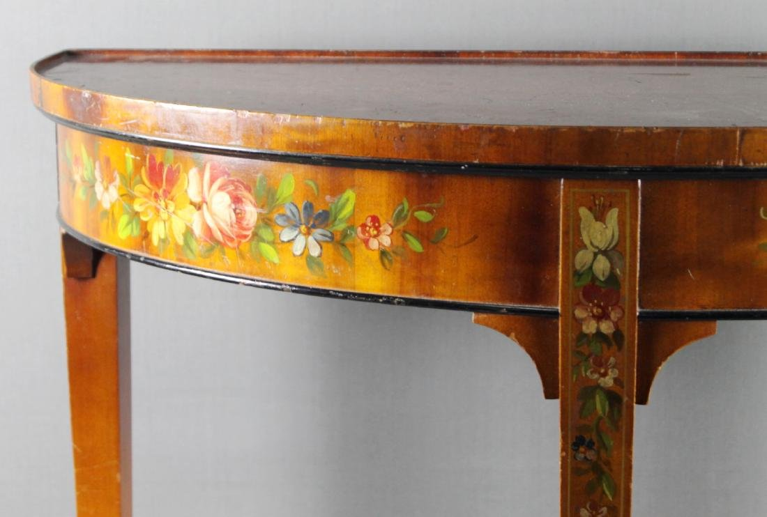 GORGEOUS  FRENCH PAINTED CONSOLE - 2