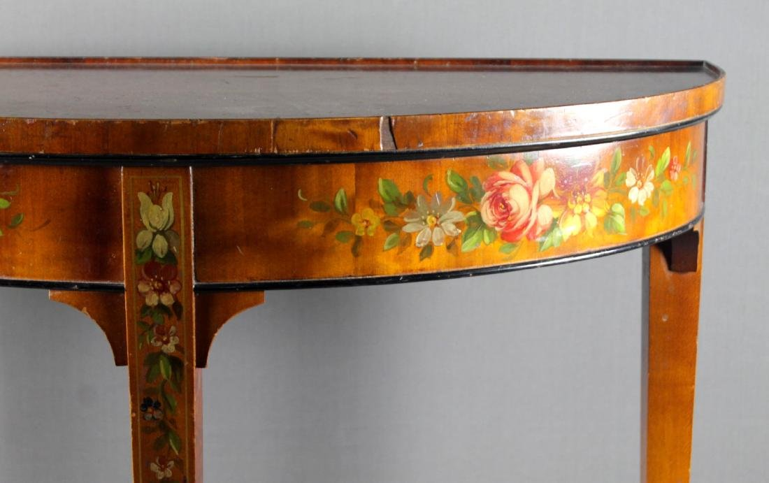 GORGEOUS  FRENCH PAINTED CONSOLE - 3