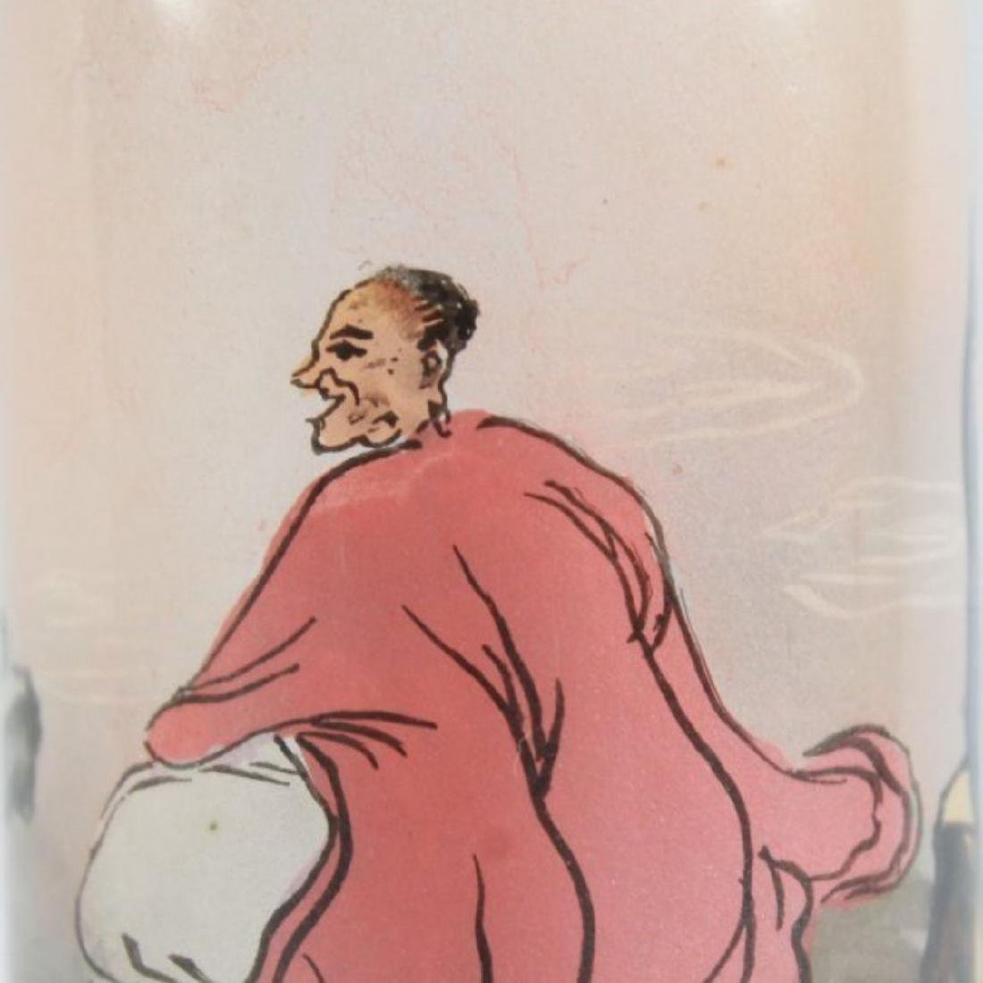 CHINESE REVERSE PAINT SNUFF BOTTLE - 5